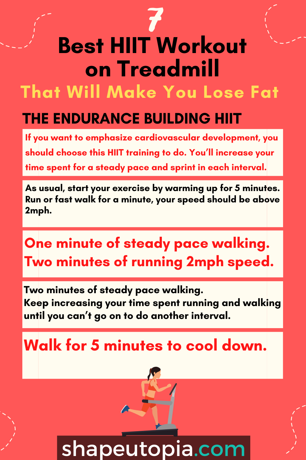 endurance 7 Best HIIT Workout on Treadmill That Will Make You Lose Fat