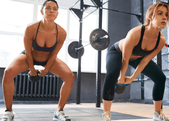 kettlebell swing Exercising with Kettlebells is the Best Way to Burn Fat!