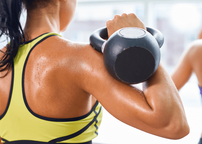 kettlebell thrusters Exercising with Kettlebells is the Best Way to Burn Fat!