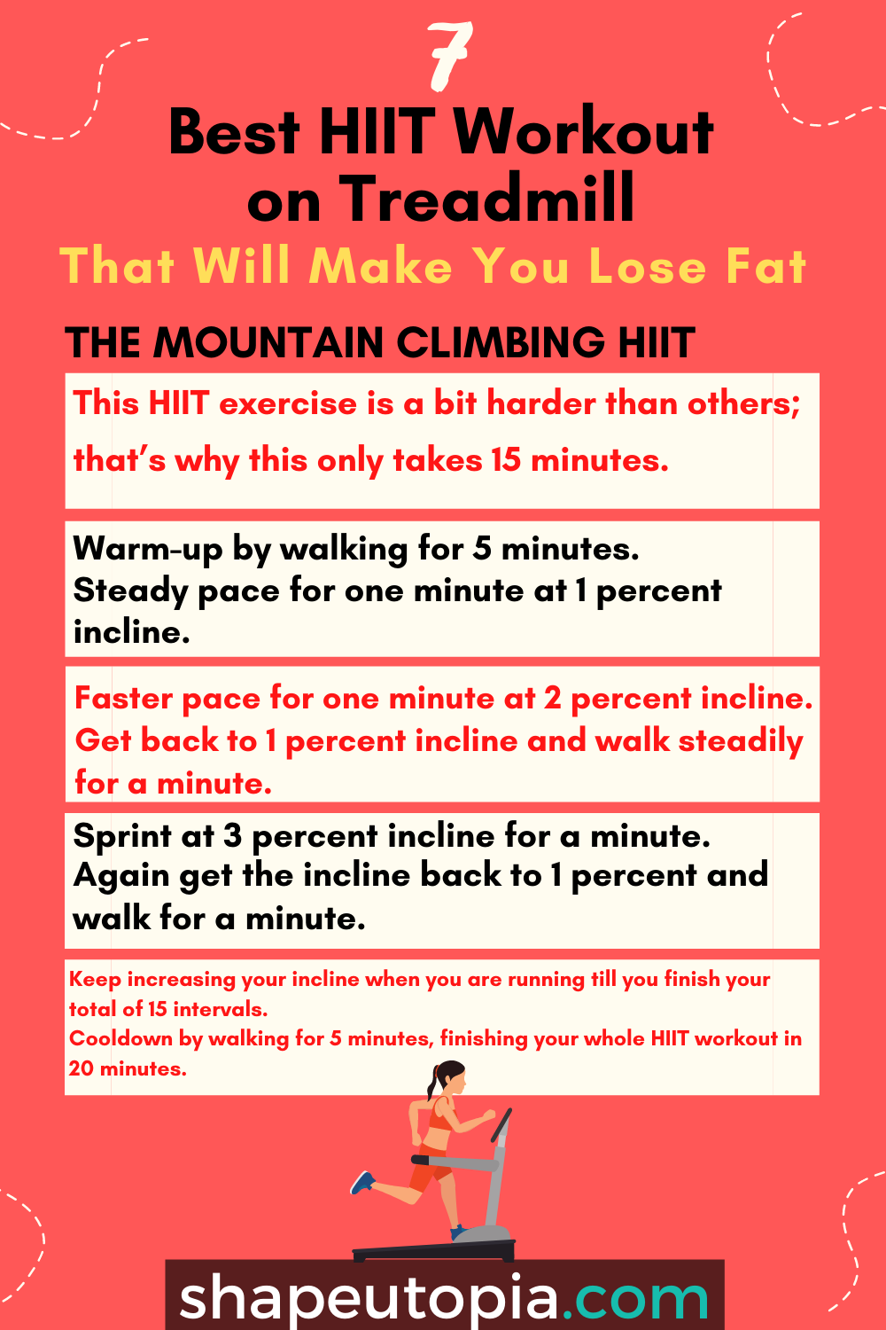 mountain 7 Best HIIT Workout on Treadmill That Will Make You Lose Fat