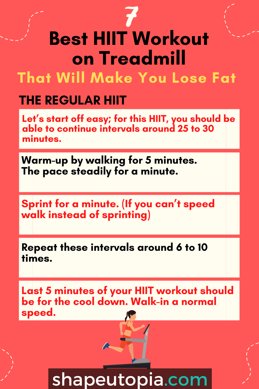 regular 7 Best HIIT Workout on Treadmill That Will Make You Lose Fat