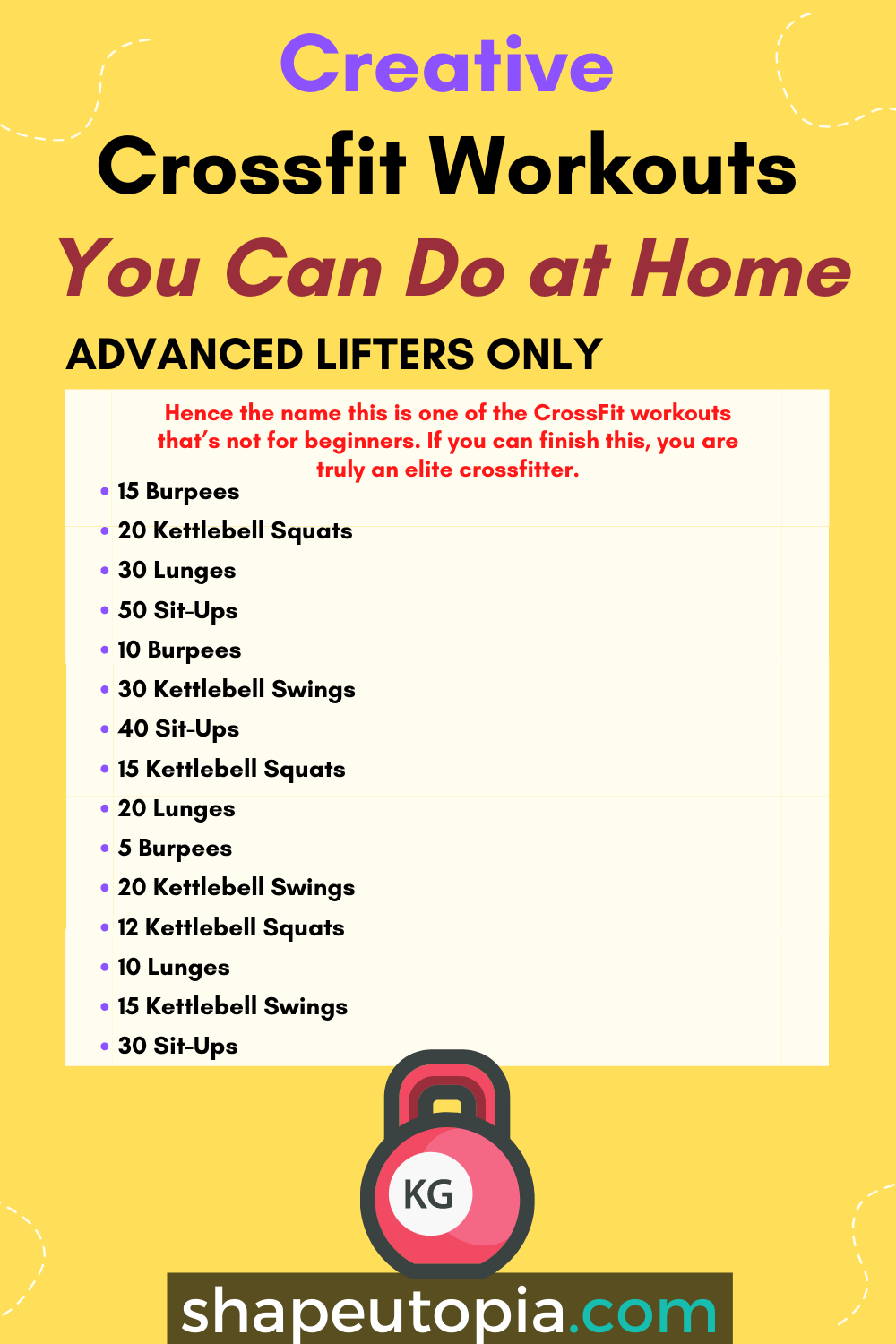 Advanced Lifters Only
