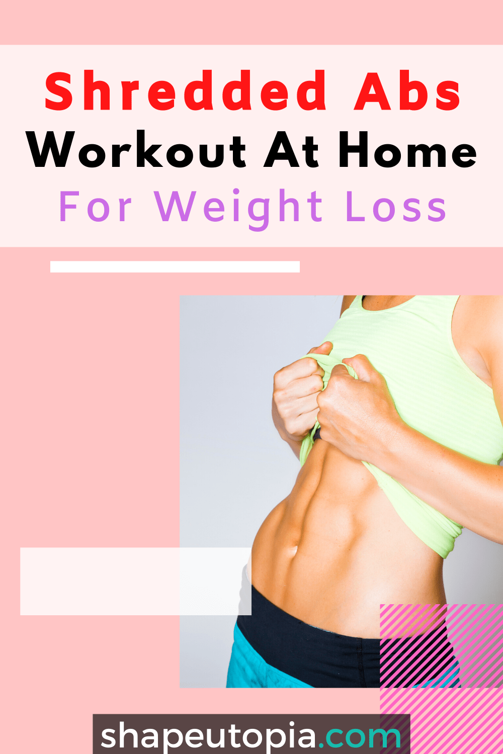 Shredded Abs Workout At Home For Weight Loss